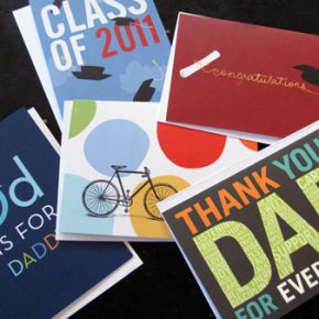 Cards for Dads and Grads, Tiny Print sample giveaway