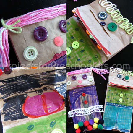 details in making paper bag puppets