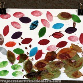 Stamp pad leaf art