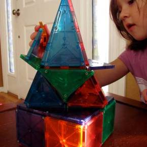 Creative building fun with Magna-Tiles and Steve Spangler Science