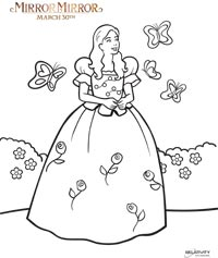 Mirror Mirror Snow White coloring page