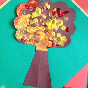 Fingerprint Art Fall Tree Craft