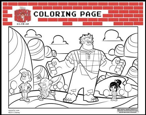 Wreck-It Ralph coloring page