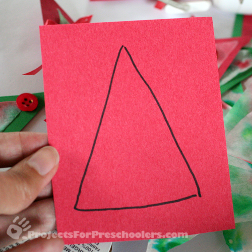 Draw a triangle on the paper