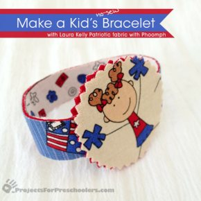 Make a No Sew Fabric Bracelet for July 4th