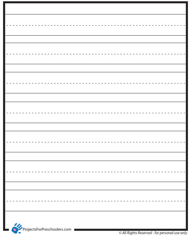 Lined Paper - Projects for Preschoolers - lined paper print out