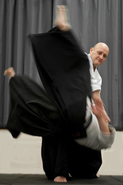 Photo of an aikido throw