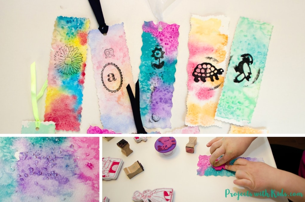 Unique Watercolor Bookmarks Easy Process Art for Kids Projects