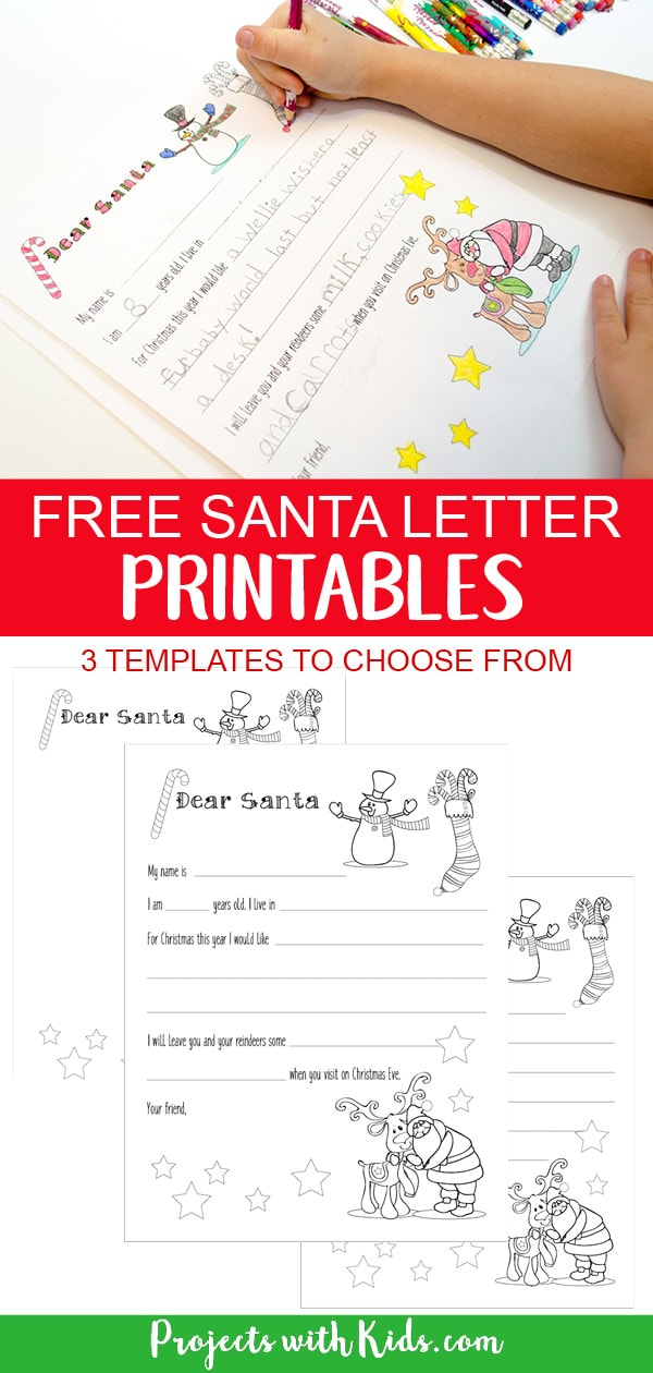 Free Santa Letter Printable Template Projects with Kids