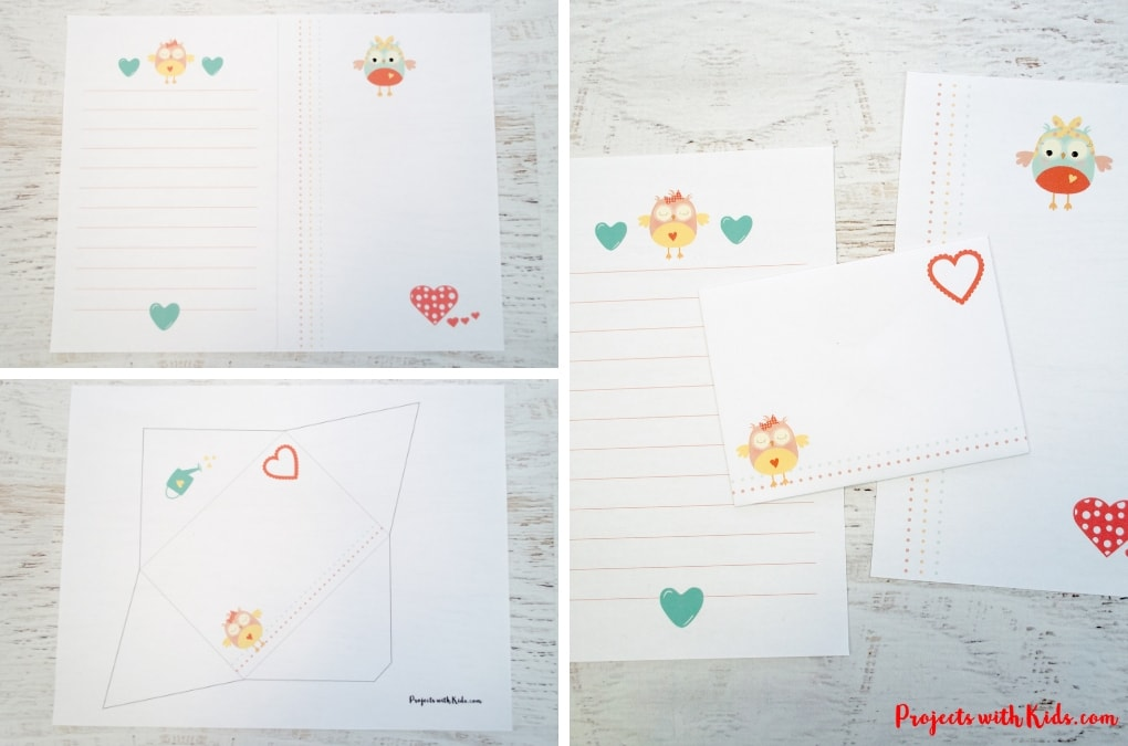 Adorable Printable Valentine Stationery Projects with Kids