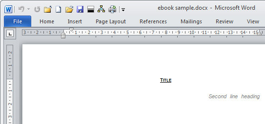 Create an E-book template in Microsoft Word - microsoft word book template