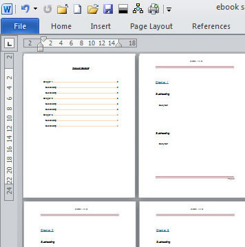 Create an E-book template in Microsoft Word