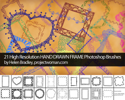 Free Hand Drawn Frame Brushes for Photoshop