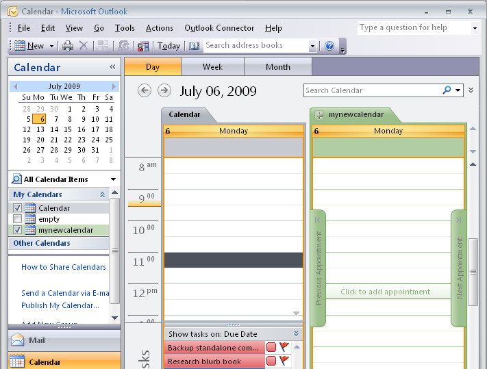 Outlook 2007 create a new empty calendar « projectwoman - create a picture calender