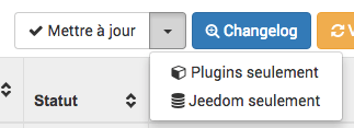 jeedom mise a jour plugin