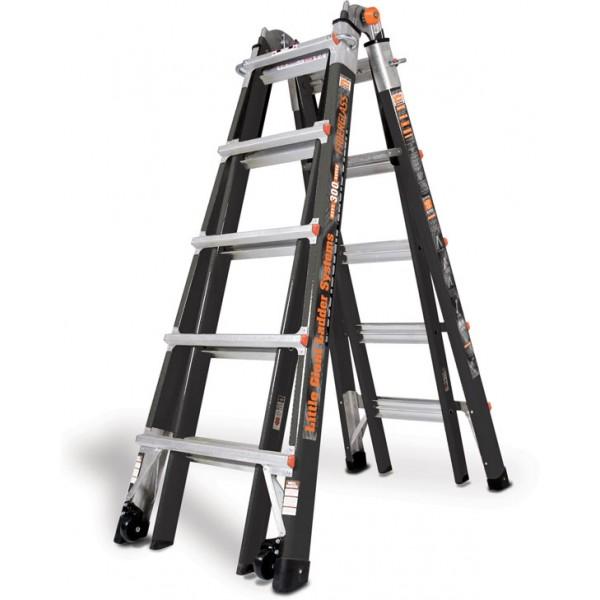 22 1a Fiberglass Little Giant Ladder W Wheels Platform Ebay