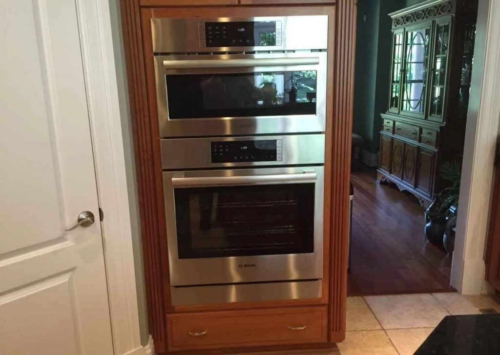 building a cabinet for your double wall oven that