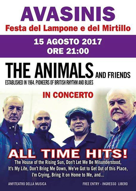 The Animals in concerto ad Avasinis