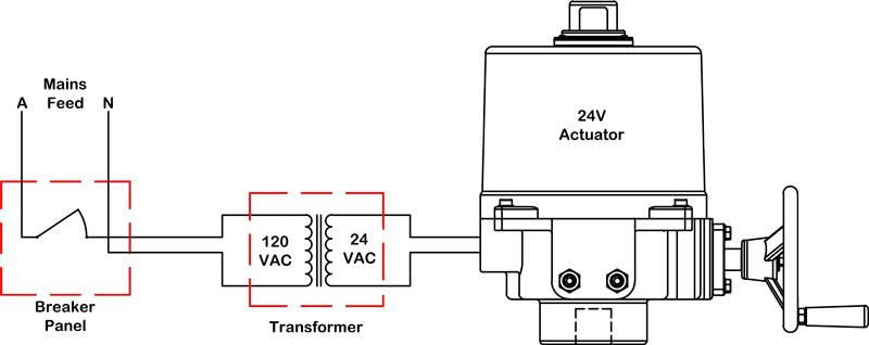 24 volt linear actuator wiring