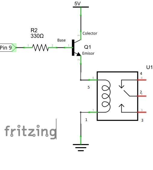 led Diagrama del motor