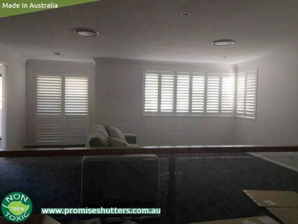 Vinyl plantation window shutters installed without added frame,2 & 4 panels