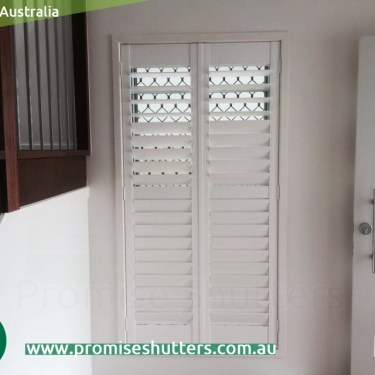 2 panels of Vinyl Plantation shutters