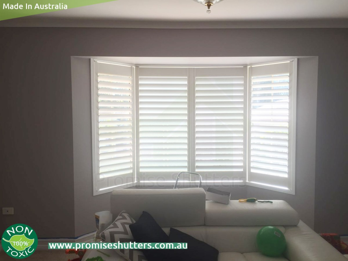 Bayview Window Plantation Shutters Installed Without Frame