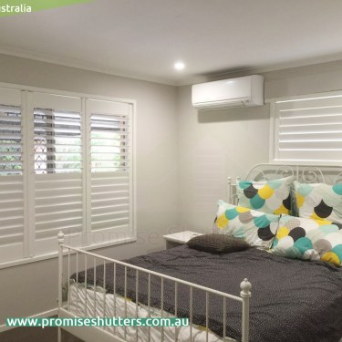 solid Vinyl internal plantation shutters, 3 panels & 2 panels