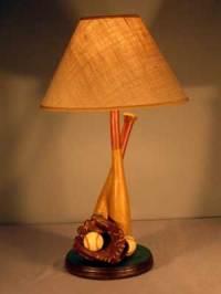 Vintage Baseball Table Lamp  Promises Fulfilled