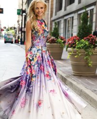Cute Flower Prom Dresses 2015 By Jovani | Prom Night Styles