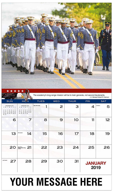 january 2019 monthly calendar