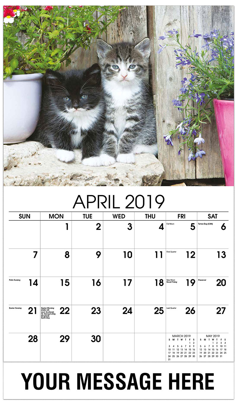 monthly calendars 2019