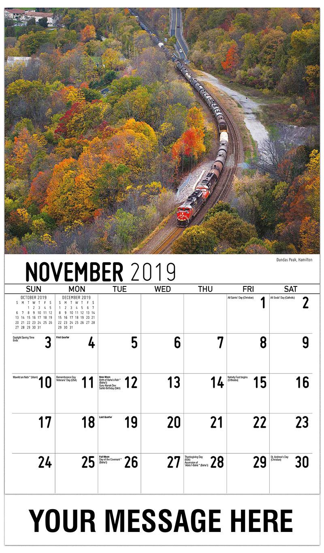 november 2019 calendar canada