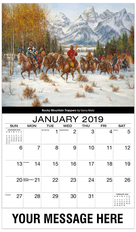 sample calendar 2019