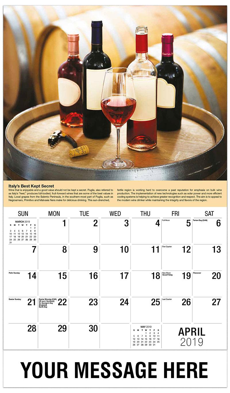 calendars april 2019
