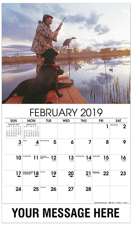 monthly calendar 2019 february
