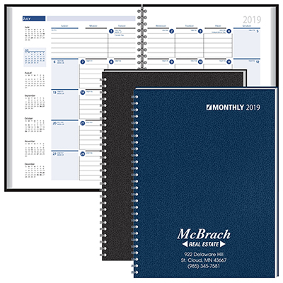 Personalized Monthly  Weekly Planners 2018, Promotional Planners - planner format