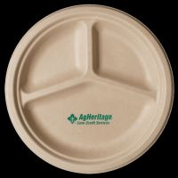10 inch Kraft 3-Compartment Compostable Paper Plate ...