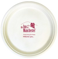"10"" White Compostable Paper Plates"