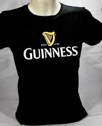 Guinness Beer Brauerei, Damen T-Shirt, schwarz, Gl