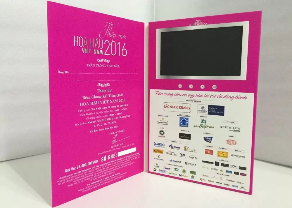 Advertisement and promotion Use 5inch LCD screen video brochure with