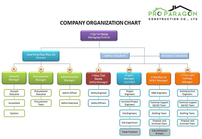 Organization Chart - Pro Paragon Construction Pro Paragon Construction