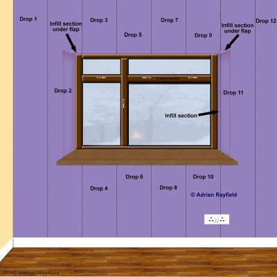 How to wallpaper around a window or door reveal :: Property Decorating