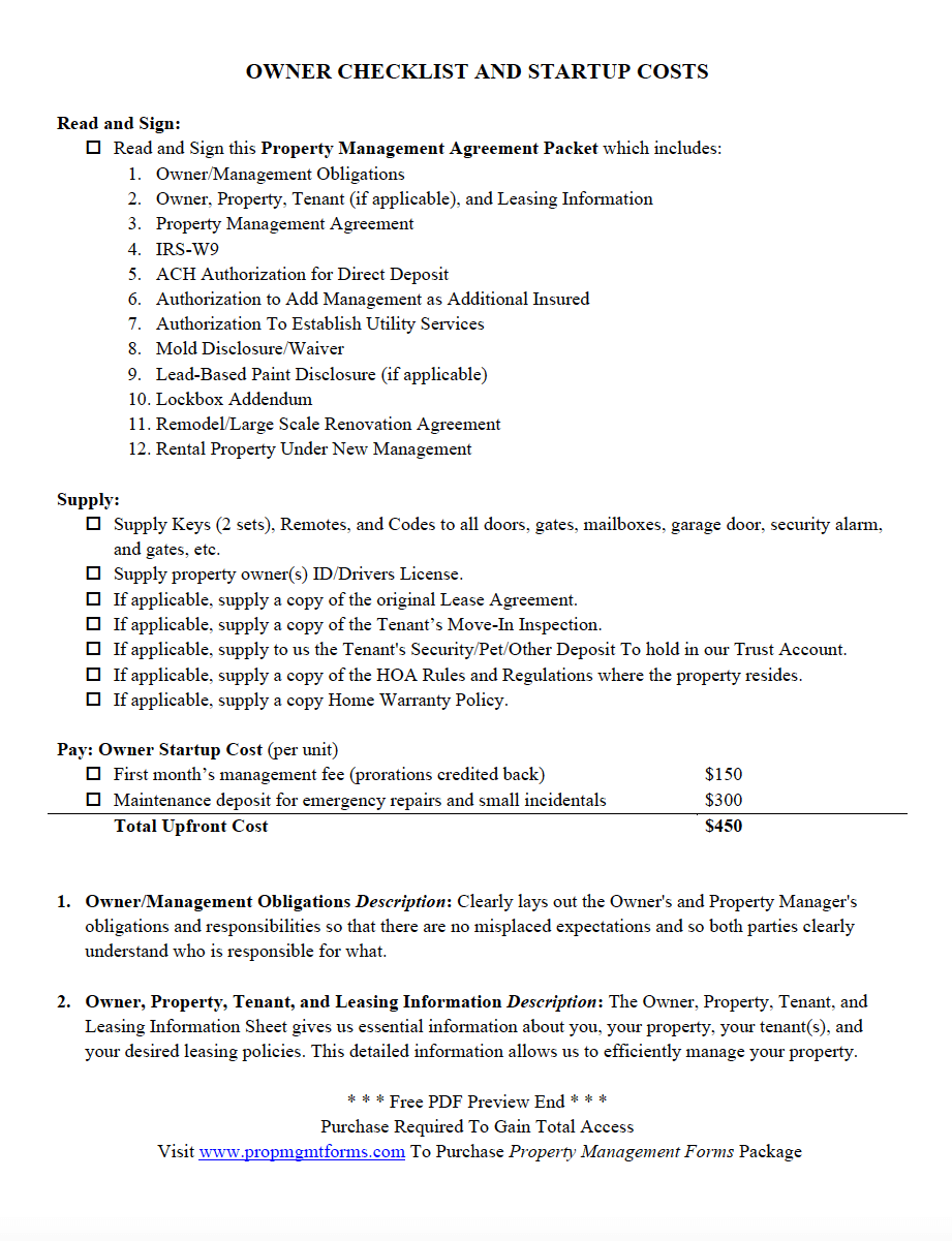 house leasing form