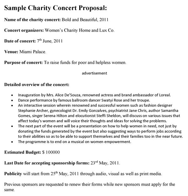 sponsorship proposals