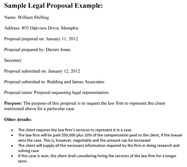 sample proposal letter for services