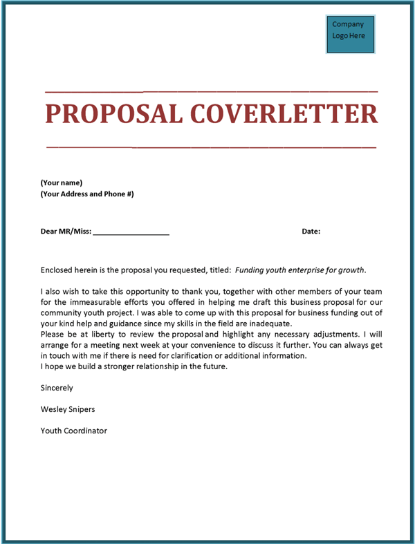 rfp proposal cover letters