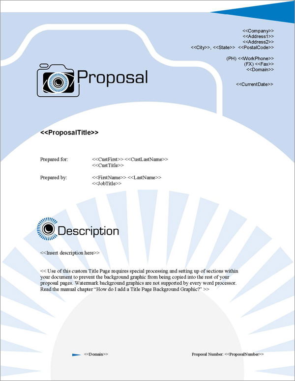 Proposal Pack Photography #2 - Software, Templates, Samples