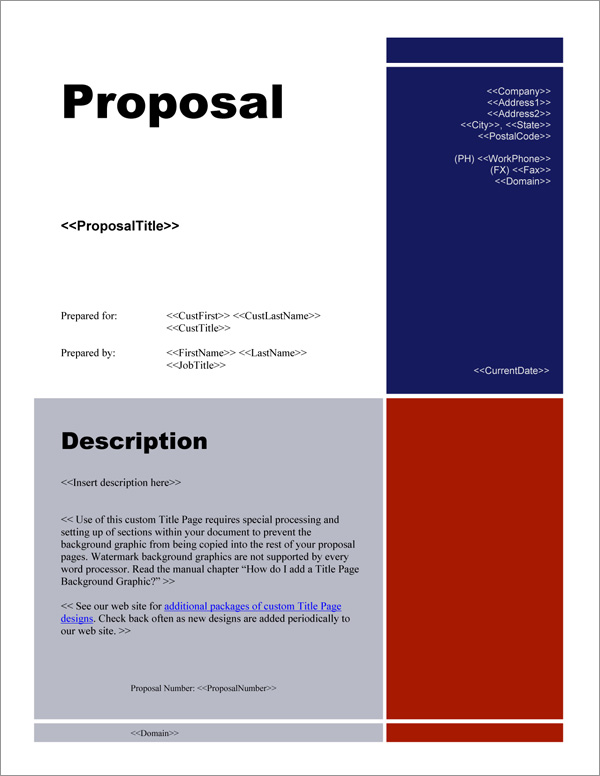 business proposal title page