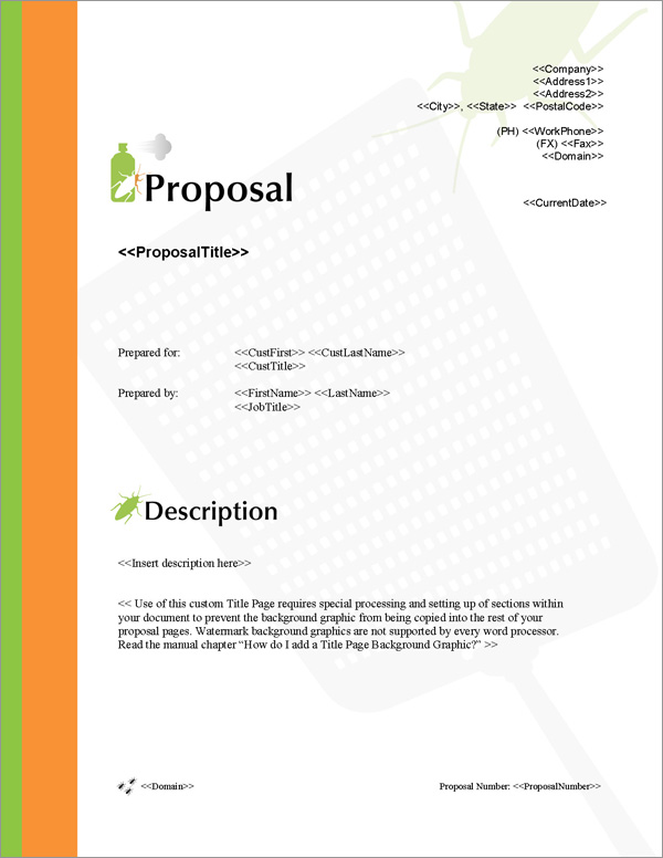 Proposal Pack Pest Control #1 - Software, Templates, Samples